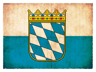 Grunge-Flagge Bayern (Deutschland)