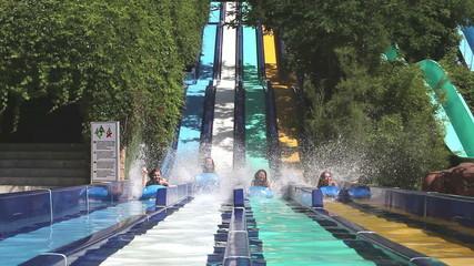 Water Park, Friends girls are at aqua park having fun