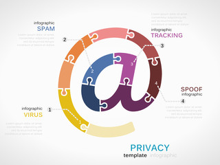 Privacy concept infographic template