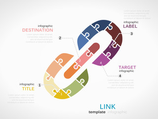 Link concept infographic template