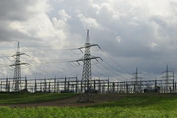 Strommasten Umspannunswerk