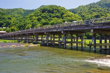 ARASHIYAMA Togetsukyo bridge 京都嵐山渡月橋