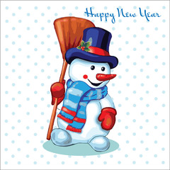little snowman, happy new year