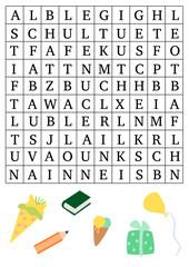 Buchstabengitter