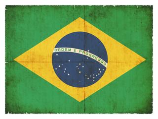 Grunge-Flagge Brasilien