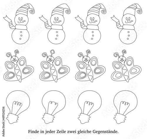 GamesAgeddon - Arbeitsblatt: gleiche Gegenstände - Lizenzfreie Fotos ...