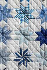 Blue patchwork
