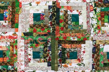 Fragment of floral patchwork