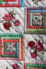 Fragment of flower quilt