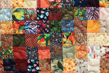 Part of homemade patchwork
