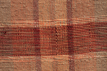 Red striped rug