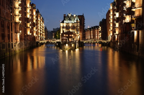 canvas print picture Hamburg Speicherstadt