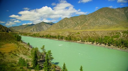 Mountain Rivers Chuya And Katun In Russian, Altai
