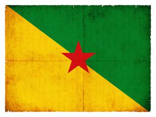 Grunge-Flagge Französisch Guayana