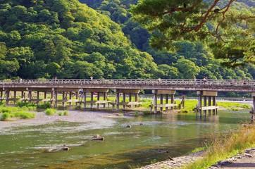 KYOTO Togetsukyo bridge, Arashiyama 嵐山渡月橋