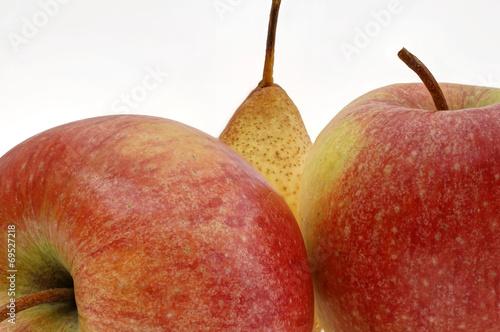 canvas print picture Apfel und Birne