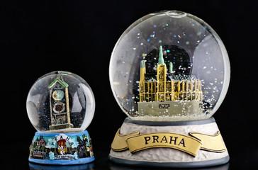 Prague snow globe