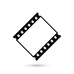 Blank film strip icon isolated on white background