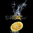 canvas print picture - Orangenscheibe