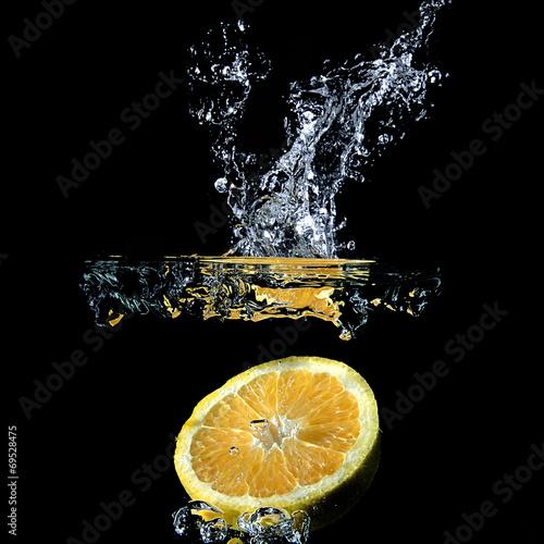 canvas print picture Orangenscheibe