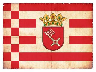 Grunge-Flagge Bremen (Deutschland)