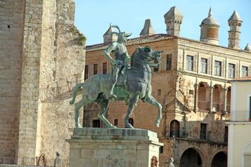 Trujillo statue , Caceres