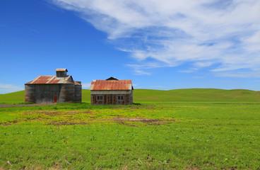 Abandoned barns