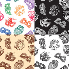 carnival masks pattern