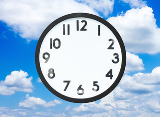 Clock with no hands in cloud