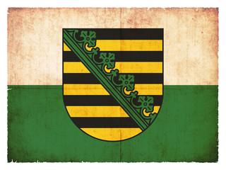 Grunge-Flagge Sachsen (Deutschland)