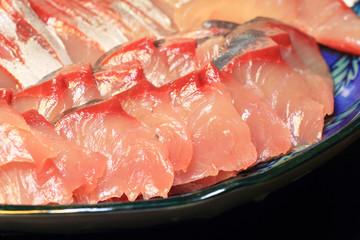 Japanese healthy sashimi of Amberjack food