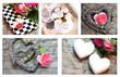 Herz-Blumen-Collage