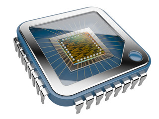 CPU Computer chip.