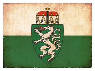 Grunge-Flagge Steiermark (Österreich)