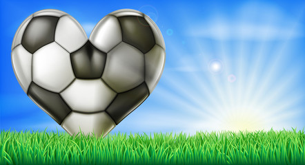 Heart shaped football ball