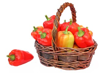 Bell Peppers in the Basket