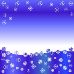 Schneeflocken im Winter