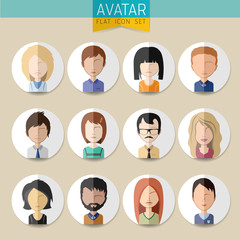 Avatar Social Network stylish Set