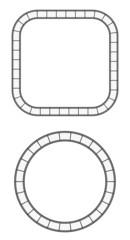 film reel frame round