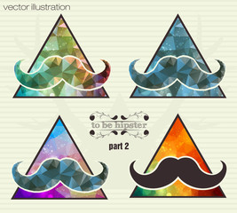 hipster background with a mustache
