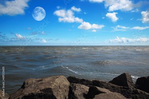 canvas print picture ocean horizon