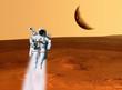 Astronaut Mars Landscape - 69533896