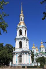 Колокольня Николо-Богоявленского морского собора в Петербурге