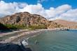Idyllic Preveli Beach on Crete, Greece.