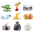 Garbage icons detailed vector set - 69534442