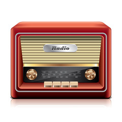 Old radio vector illustration