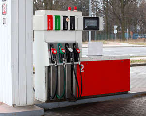 Fuel dispenser at the gas station