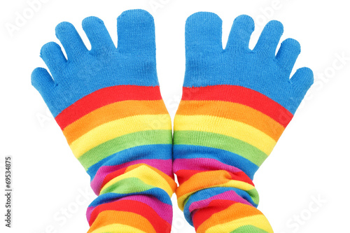 canvas print picture colored socks