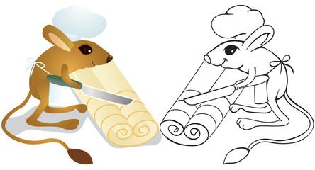 Jerboa chef cuts  dough