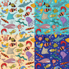 Seamless - underwater wildlife